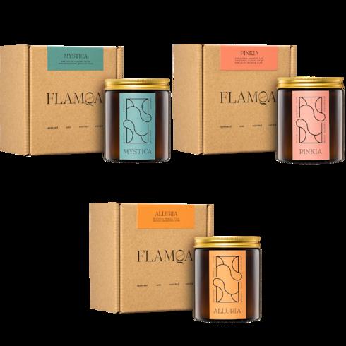 Zestaw 3x świeca zapachowa FLAMQA